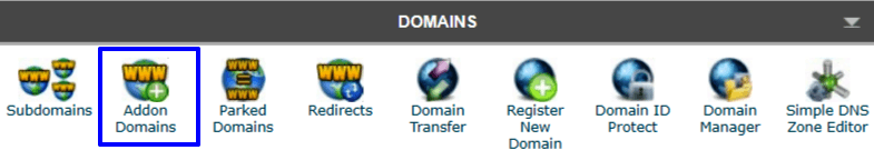 cPanel adding domain